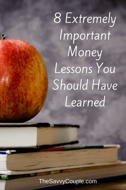 These money lessons are SO important. Unfortunately, everyone is not taught these growing up. How many of these personal finance tips did you not know about? #Money #Lessons #Kids #Taught #Teach #Finance #PersonalFinance #Save #Budget #Income #Retirement #Debt