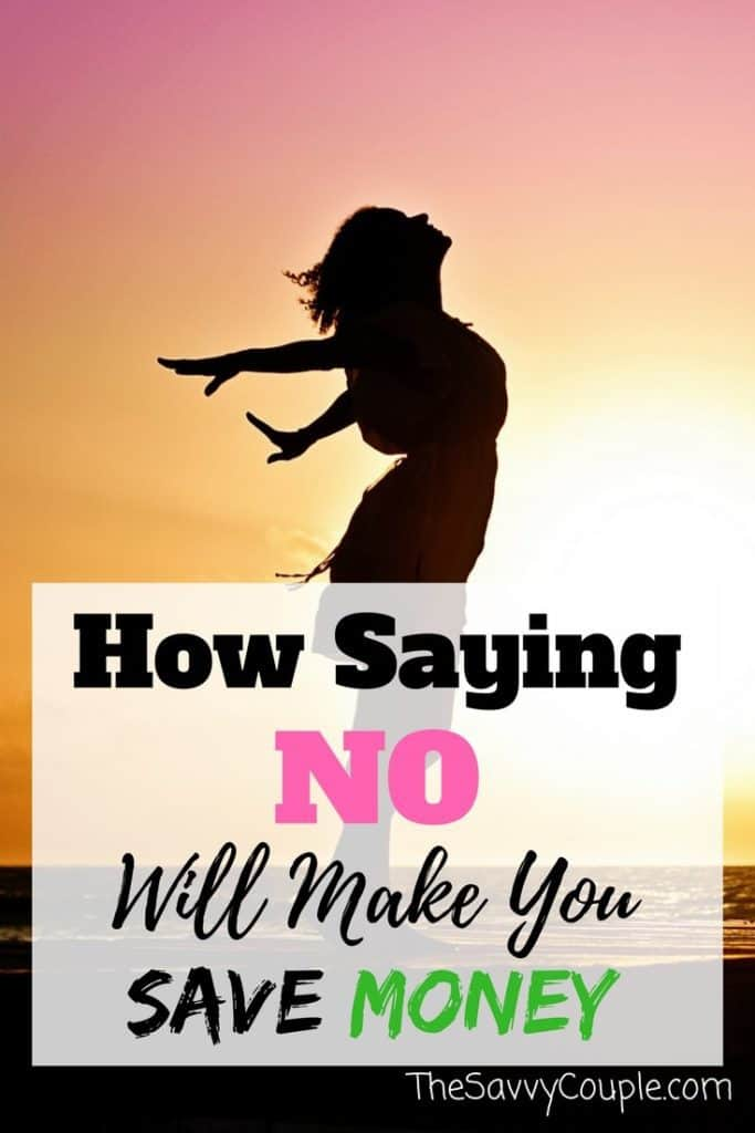 """Saying no is a big step for people. By saying no you are able to put more money into your wallet. Sometimes saying """"No"""" is necessary. Make no a complete sentence and put your money toward your budget."""