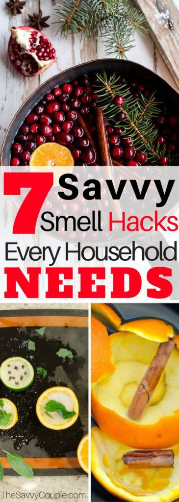 These 7 AMAZING Smell Hacks are THE BEST! They really are easy and they smell GREAT! I'm so happy I found this, I know my home is going to smell SO GOOD. Definitely pinning for later! Learn how to make your house smell good again. Hacks | DIY House Hacks | Scent Hacks | Holidays | The Best