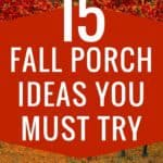 Here are a 15 genius fall front porch ideas you need to try. When fall is in the air, transform your entry and create porch envy with these easy-to-do décor ideas. Sharing lots of beautiful Fall front Porches. Full of inspiration and ideas. Use these to get your own home ready for Fall. Effective fall front porch decorating ideas are all about choosing the right combination of decorations and being cost effective. Get inspired by the best designs! Halloween | Thanksgiving | DIY | Best of Pinterest | The Savvy Couple