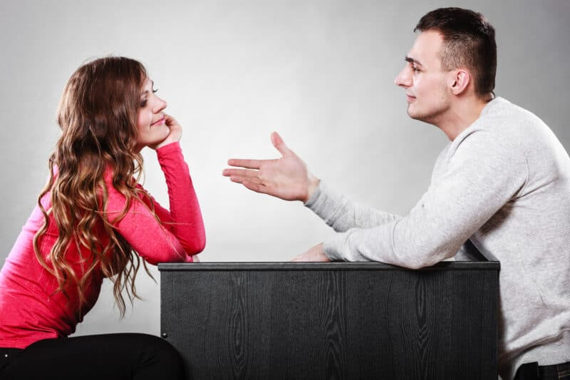 man and woman learning to compromise to have a successful marriage