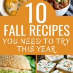 These 10 easy pumpkin and fall recipes are incredible! If you are a fall loving, pumpkin spice drinking and quick recipe lover you have to check out this article! From slow-cooker to over-night oats, to yummy dessert bars. These fall recipes are delicious! #PumpkinRecipes #PumpkinSpice #FallRecipes #SlowCooker #BudgetMeals