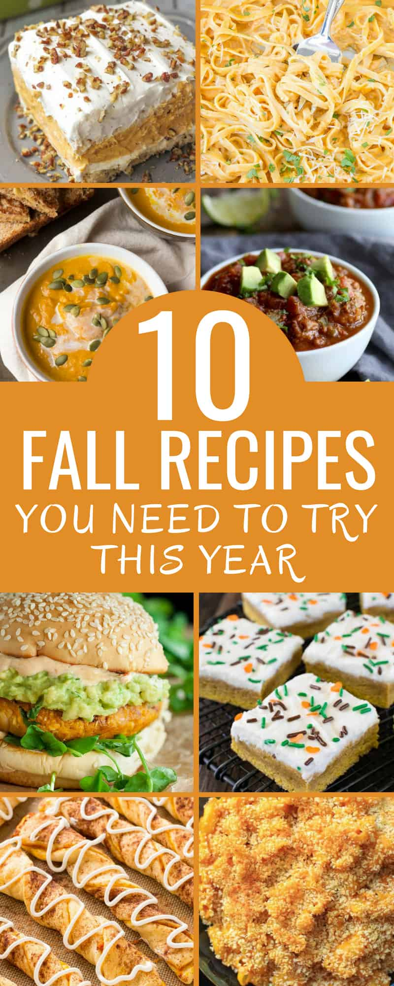 These 10 easy pumpkin and fall recipes are AMAZING! If you are a fall loving, pumpkin spice drinking and quick recipe lover you have to check out this article! From slow-cooker to over-night oats, to yummy dessert bars. These fall recipes are delicious! #PumpkinRecipes #PumpkinSpice #FallRecipes #SlowCooker #BudgetMeals