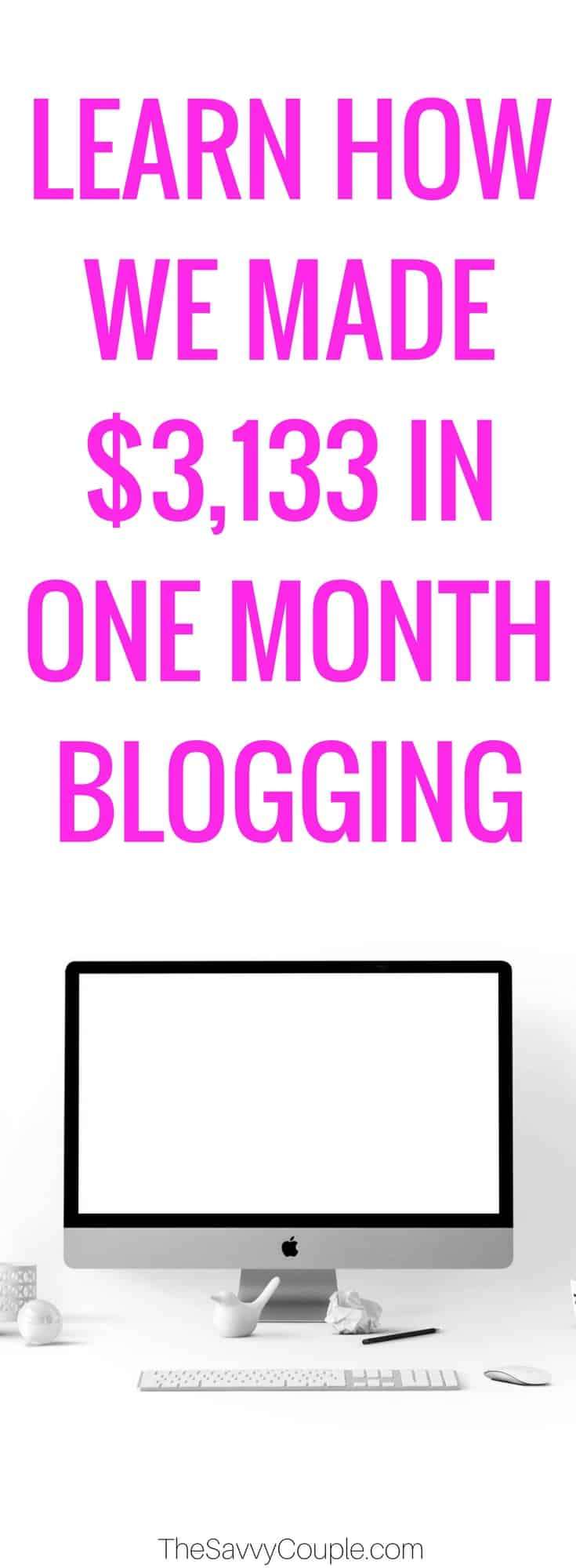 In September 2017, we made $3,133 from blogging on our website The Savvy Couple. This income report will show you how I made money online last month. Who doesn't love a side hustle that can make you passive income? Read to find out more on how you can blog full-time and leave your 9-5 job. Make Money Online | Blogging Full-Time | Passive Income |