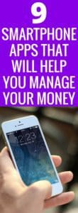 Managing money can be hard! Gone are the days of balancing the checkbook and keeping receipts tracked. We are living in the 21st century, we all have smart phones. The convince to manage our money better is literally at our fingertips! Here are 9 Smartphone apps that will help you budget and save your money. Make money work for you! Budget | Save Money | Smartphone App | Ibotta | Mint | Finances | Money Management | Invest