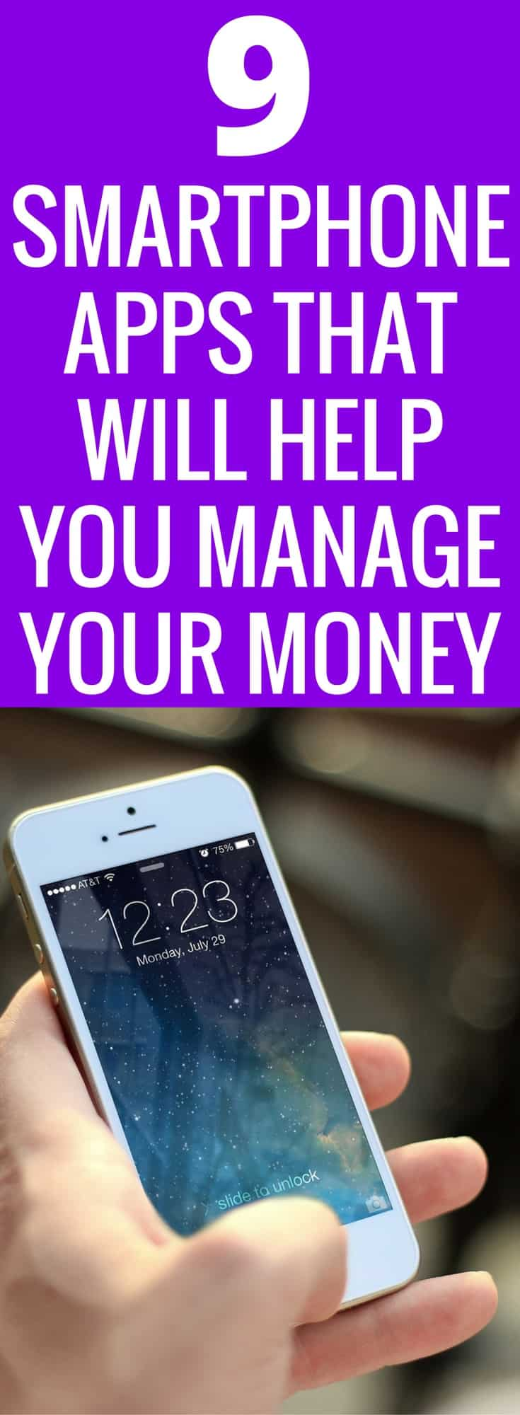 Managing money can be hard! Gone are the days of balancing the checkbook and keeping receipts tracked. We are living in the 21st century, we all have smartphones. The convince to manage our money better is literally at our fingertips! Here are 9 Smartphone apps that will help you budget and save your money. Make money work for you! Budget | Save Money | Smartphone App | Ibotta | Mint | Finances | Money Management | Invest |