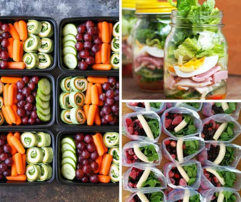 sample pictures showing meal prep recipe ideas