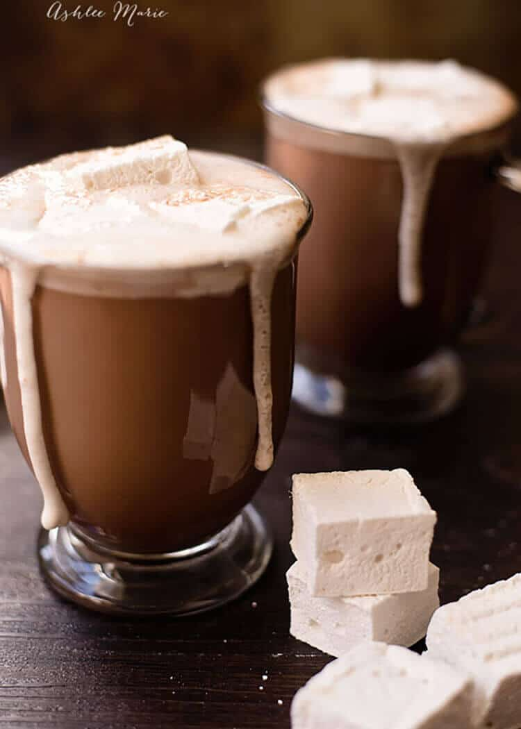 These hot chocolate recipes are absolutely AMAZING! There is nothing better than sitting down with a homemade hot chocolate in front of the fire. I am so excited to try these with the family this year! Recipes for adults and children. Pin this for later! #HotChocolate #Recipes #Winter #Drink