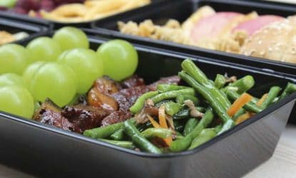 beef beans and grapes meal prep idea