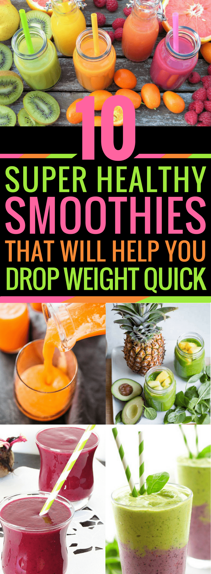 This list is AMAZING! I love the variety to help you trim fat and get healthy. These are seriously THE BEST! #Fitness #Weightloss #Smoothies