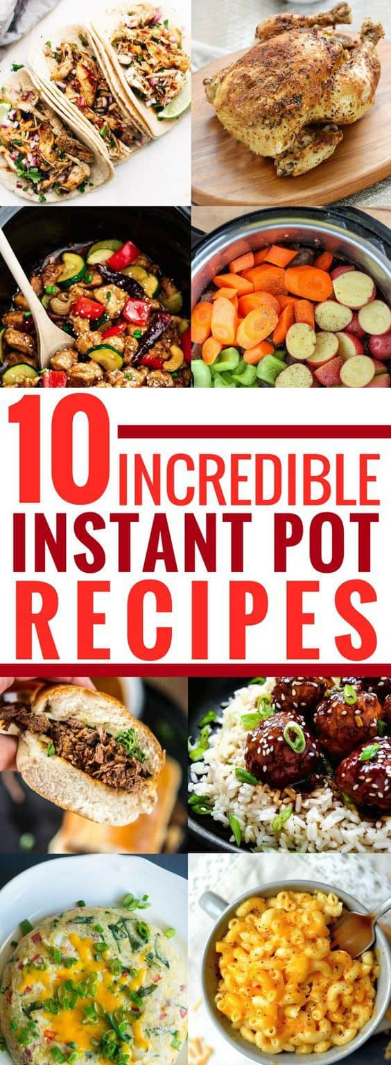 These instant pot recipes are THE BEST! I am so glad I found these AMAZING easy & delicious family recipes. Now I will be saving time and money in the kitchen. Definitely pinning!
