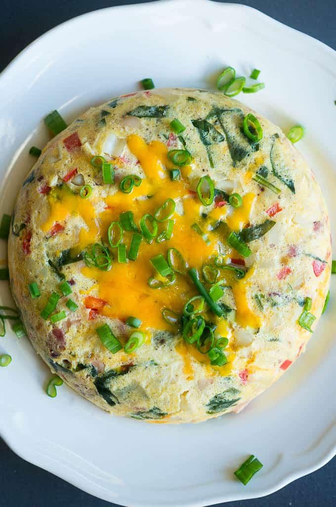 Instant Pot Cheesy Egg Bake