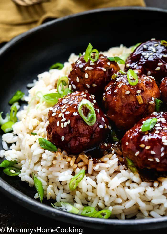 Instant Pot Teriyaki Turkey Meatballs 8