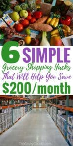 These ways to save money on your grocery budget are GENIUS! I am so glad I found these to help me SAVE MONEY and CUT SPENDING. My grocery spending went down over $100 per month after following these tips! Pin this!
