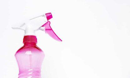 pink spray bottle