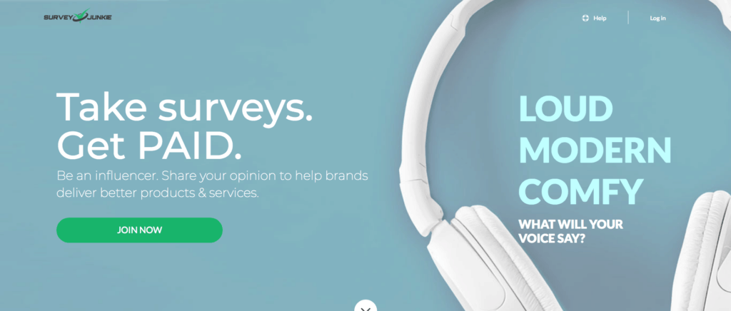 survey junkie join now screenshot
