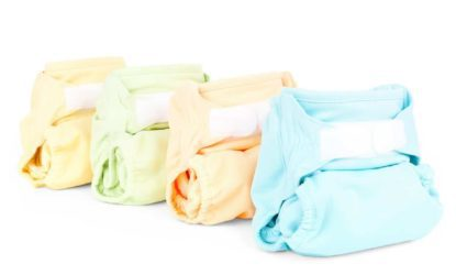 cloth diapers in multiple colors