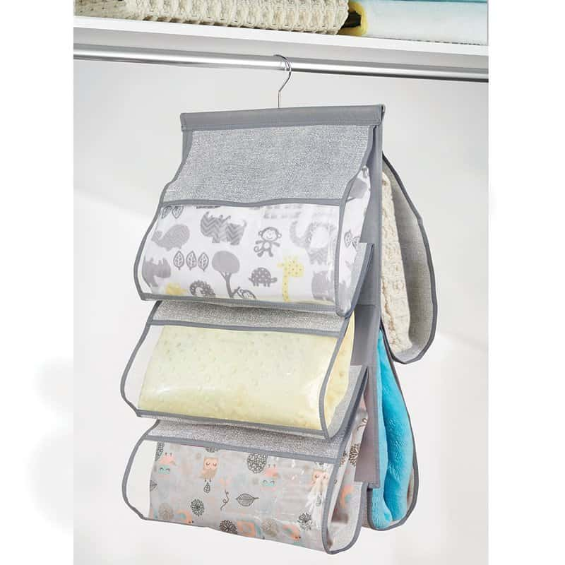 These 8 baby closet organizers are THE BEST! I'm so glad I found these AMAZING tips! Now I have great ways to keep my baby's room organized and simplified! These are the perfect solution for all the extra baby items. Pin this for later!