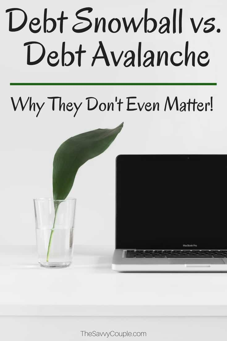 This article on how to pay off your debt AMAZING! It's so true that it does not matter if you use the debt snowball or debt avalanche method. Just find a debt payoff method that works for you and stick to it! I am so motivated to become debt free and live the life I always wanted. #DebtPayoff #DebtSnowball #DebtAvalanche
