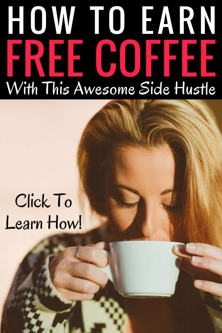 This side hustle will help you earn free coffee! I am so excited I found this article so I can start using Survey Junkie and other paid survey companies to earn extra cash each month. Pin this for all the coffee lovers! #SideHustle #SurveySite #SurveyJunkie #PaidSurveys #ExtraCash #FreeCoffee #Coffee #EarnMoney #ExtraCash #WorkFromHome #EarnIncome