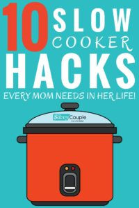 These 10 slow cooker hacks are the BEST! I'm so glad I found these AMAZING slow cooker tips & tricks! Now I have some great slow cooker ideas to use for my crockpot that'll make it so much more useful. You gotta pin this!