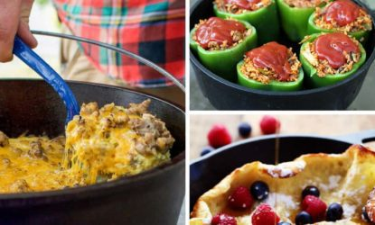 image grid of dutch oven recipes