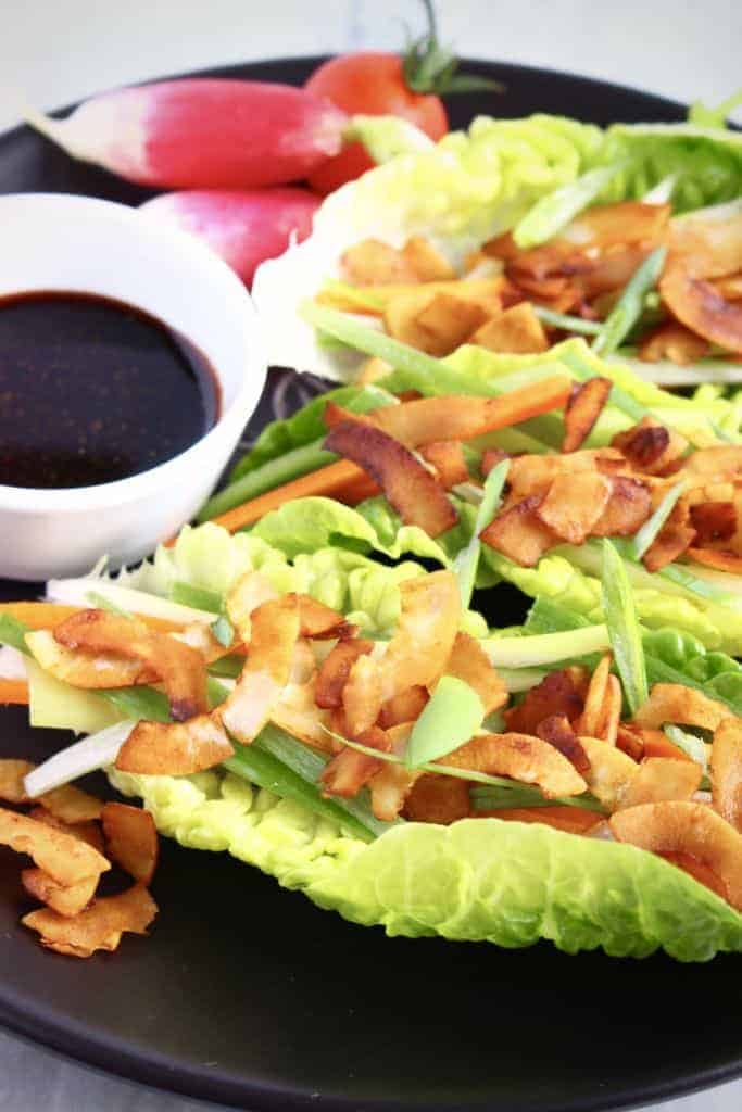 Vegan Crispy Duck Lettuce Wraps
