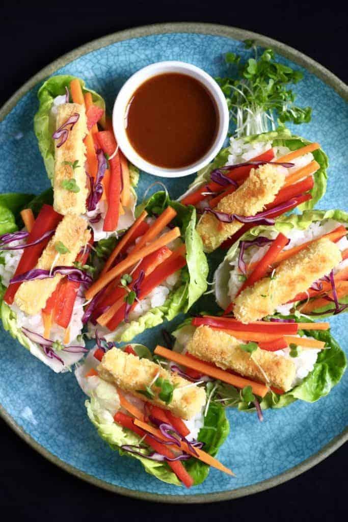 Tofu Katsu Sushi Lettuce Wraps