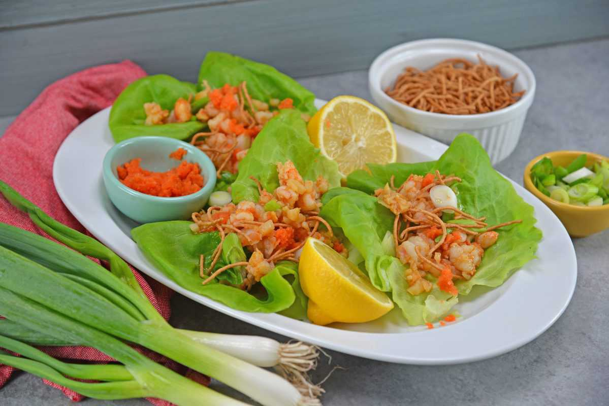 Ginger Shrimp Lettuce Wraps