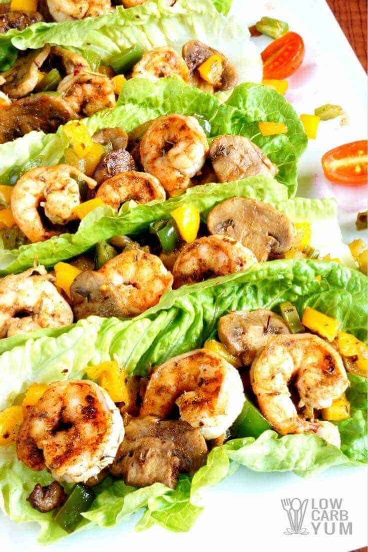 Shrimp Lettuce Wraps with Cajun Cream Sauce