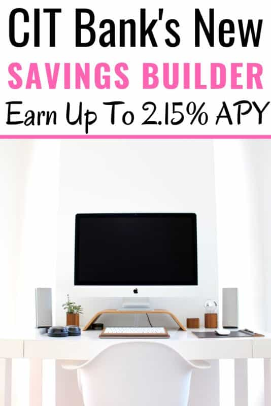 I have been looking everywhere for a bank that offers a high-interest savings account. I am so excited that CIT Bank just launched a new product called the Savings Builder. Not only does it offer AMAZING interest rates but it also helps form good savings habits! #Ad #Savings #Finance #Bank #CitBank #Save #Money #Frugal #Savvy #Money