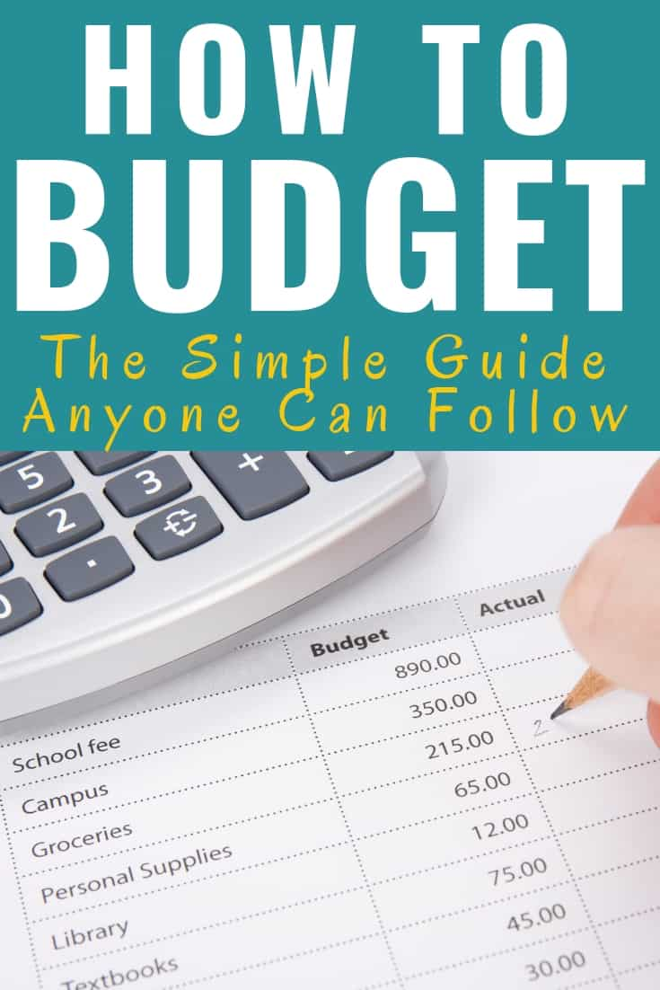This guide for beginners on how to budget is AMAZING! My family has been struggling for years living paycheck to paycheck and it's been stressful financially. I am so excited to start a budget and manage our money better. Going to be saving like crazy now. Pin this! #Budget #HowTo #Guide #Tutorial #DaveRamsey #Money #Cash #BudgetingBinder #BudgetingTemplate #Printables