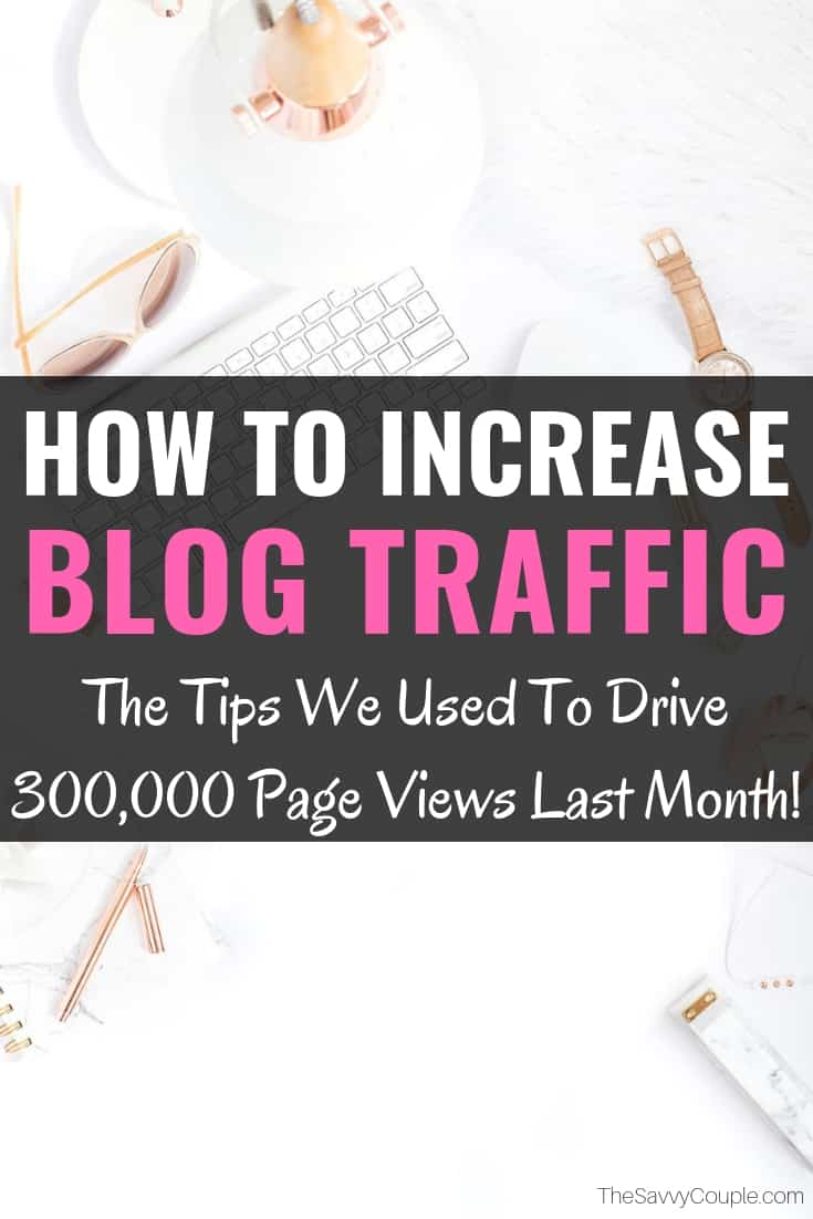 This article on how to increase blog traffic is absolutely AMAZING! I am so excited to grow my blogs traffic and income in the upcoming months using this tips and tricks. Everything from social media marketing through Pinterest all the way down to the nitty-gritty of SEO this article covers all things about growing your blog traffic. Pin this for other bloggers! #Blog #Traffic #Grow #Income #Marketing #Pinterest #SEO #HowTo #Increase #Boost