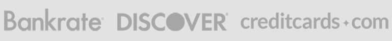 As Seen On Bankrate, Discover, credit cards.com banner