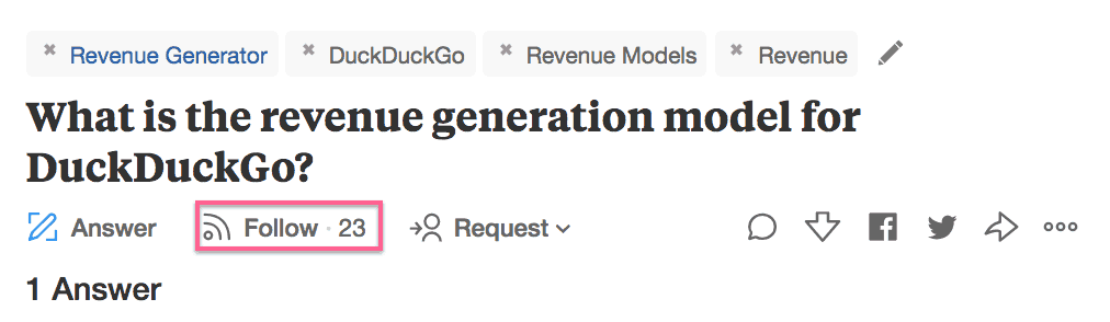 screenshot to show where to find the number of followers of a quora question