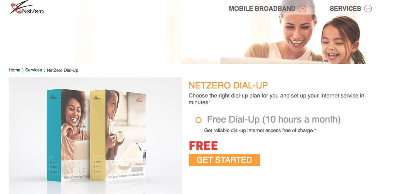 nether free dial up internet homepage screenshot