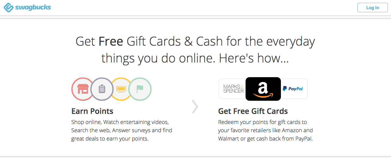 Ways to earn free gift cards with swagbucks like amazon, paypal, and itunes