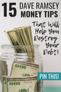 These Dave Ramsey tips are super helpful! If you need some ideas on Dave Ramsey budgeting, paying off debt, or saving money like crazy, then definitely read this! So much knowledge on getting out of debt #getoutofdebttips #daveramseytips #daveramseysnowball #daveramseybudget #daveramsey #savemoney #budgeting #finance #freedom