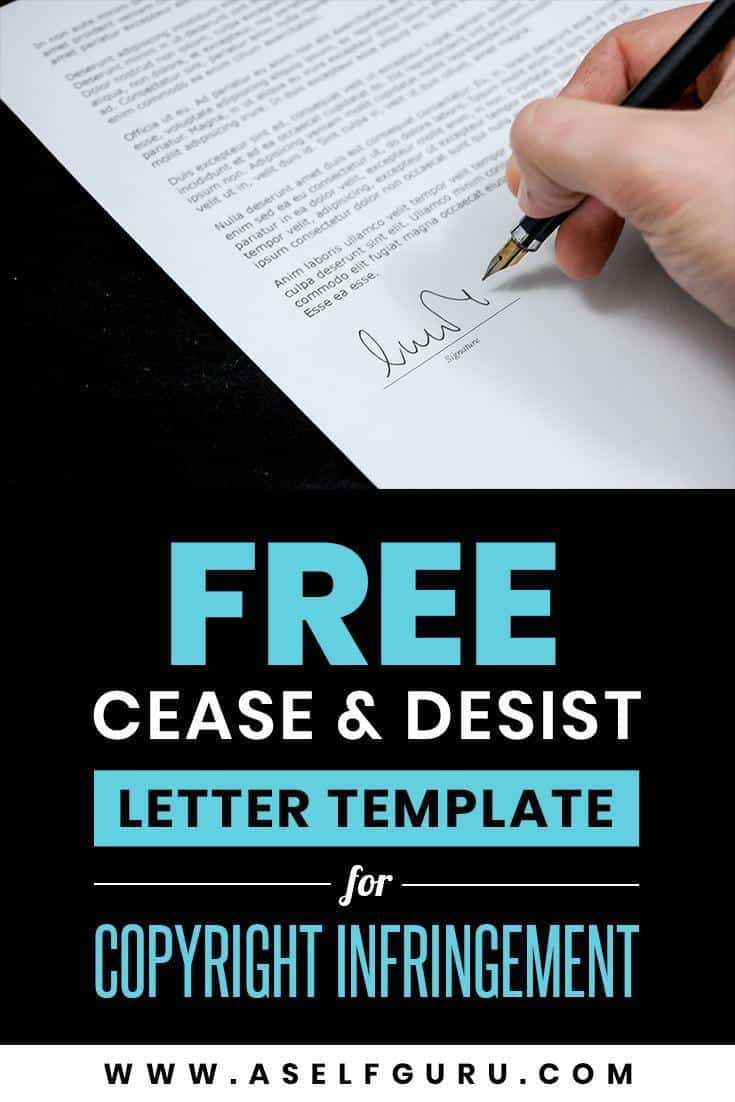 free cease & desist letter template for copyright infringement at aselfguru.com