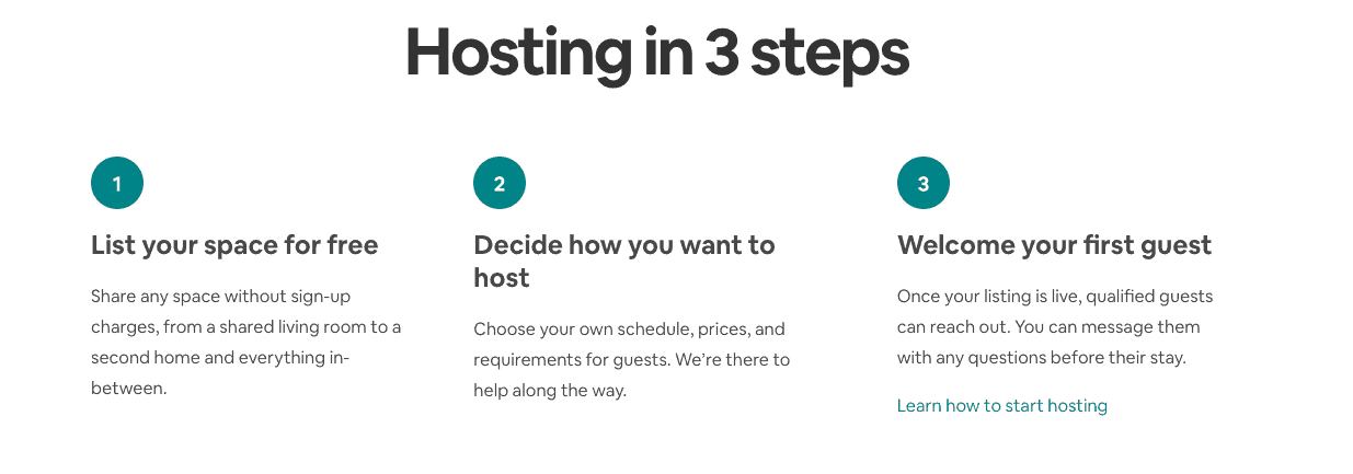 3 steps for setting up as a host with airbnb