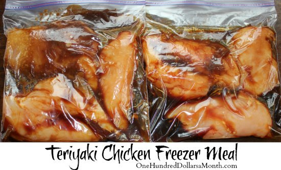 teriyaki chicken freezer meals