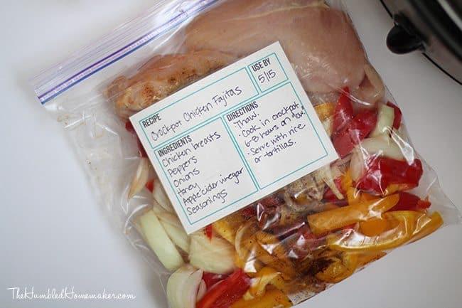 crockpot chicken fajitas easy freezer meals