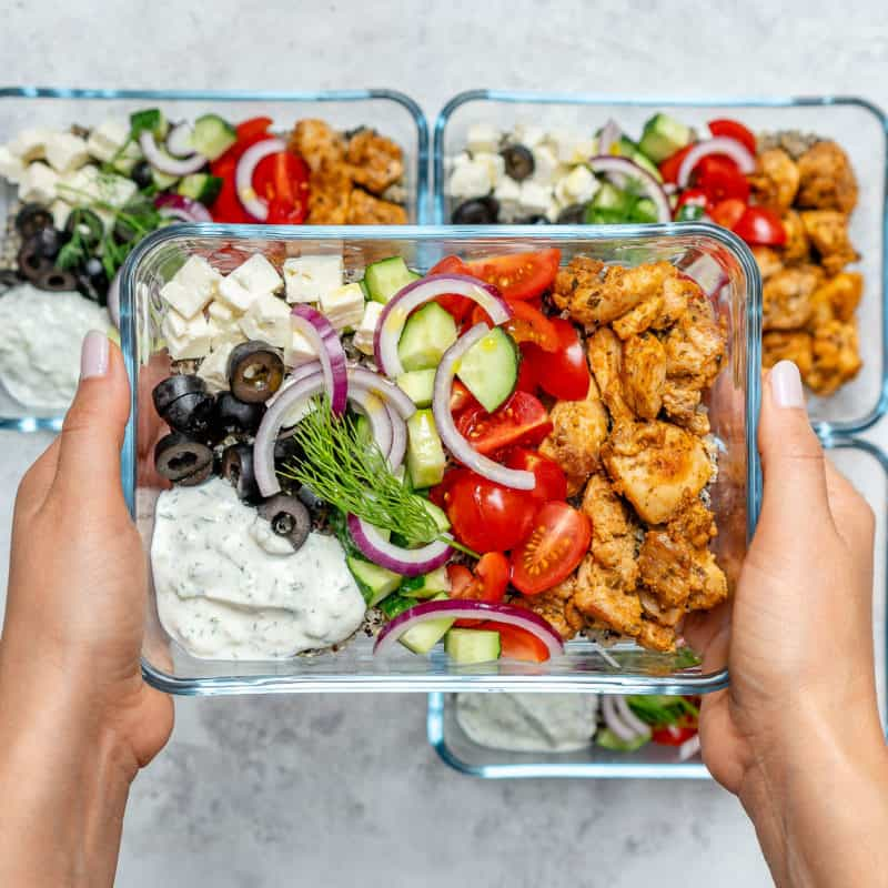 greek chicken meal prep bowl