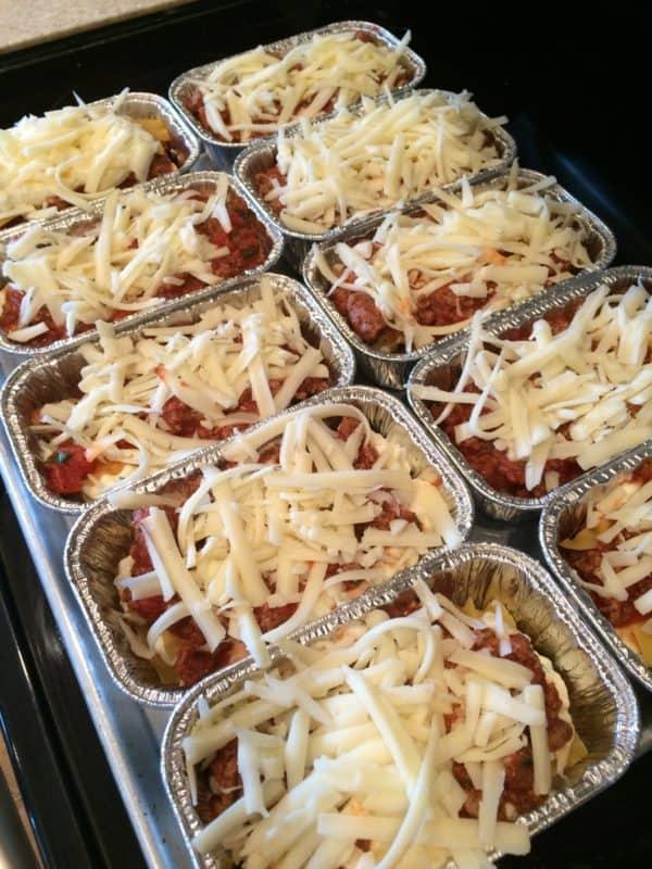 individual lasagna easy freezer meals