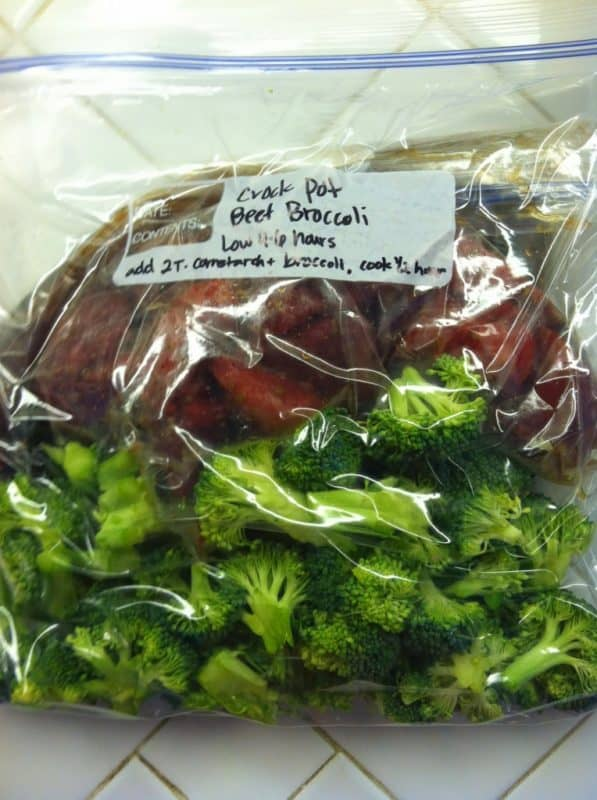 Chinese beef and broccoli easy freezer meals