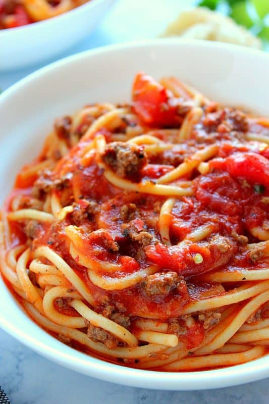 Instant Pot Spaghetti cheap dinner ideas recipe