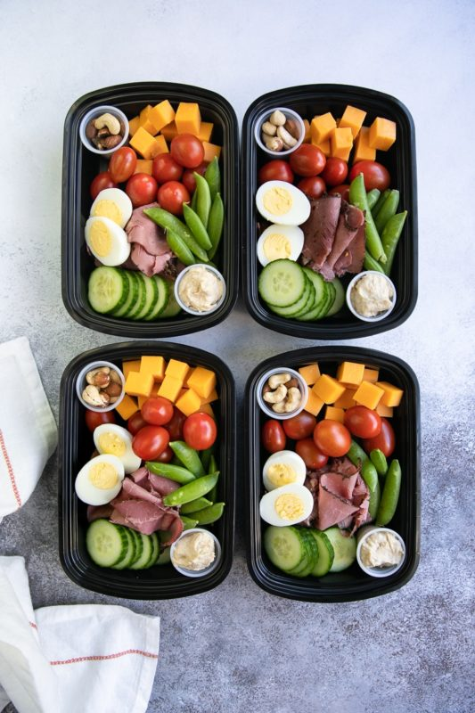 protein snack pack lunch meal prep idea