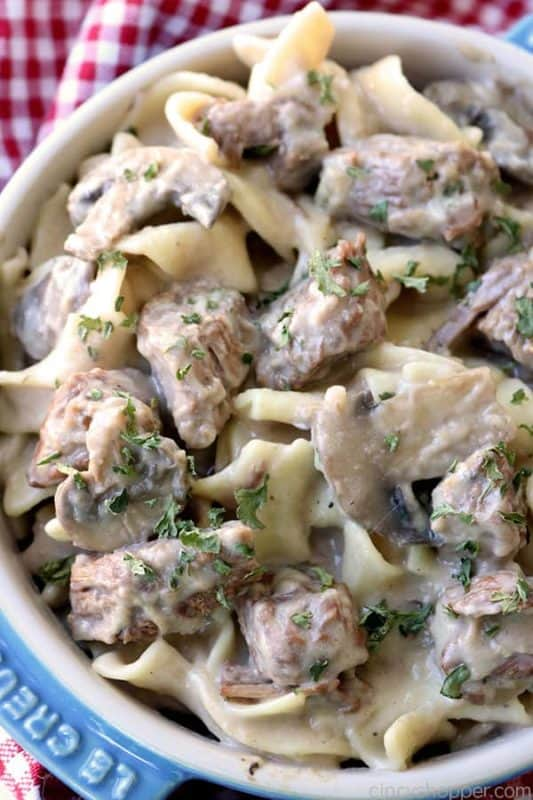 slow cooker beef stroganoff dinner ideas on a budget