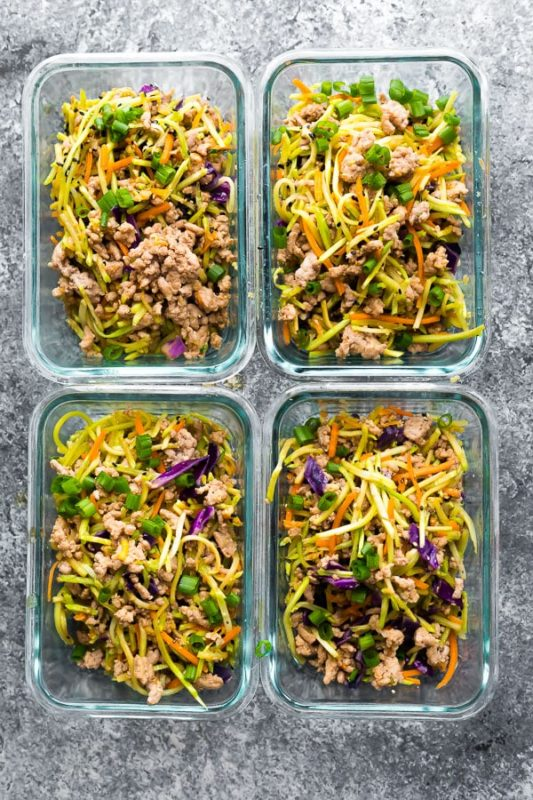 egg roll in a bowl meal prep idea