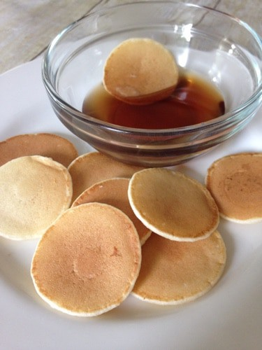 mini frozen pancakes dipped in syrup easy freezer meals